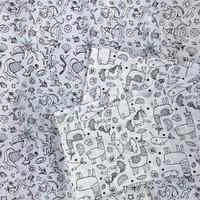 Pour occuper les enfants cet été, programmez un atelier coloriage de tissu avec des feutres textiles disponibles comme ces deux cotons dans nos magasins. 6,99€ le mètre. Vous pourrez en faire des tote bags personnalisés par vos enfants. Astuce : pensez à passer un coup de fer apres le coloriage pour une tenu au premier lavage.